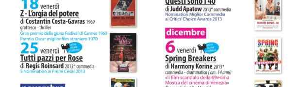 Il nuovo programma del Piccolo Cineclub Tirreno, tutti i venerdì dall'11 Ottobre fino al 20 Dicembre