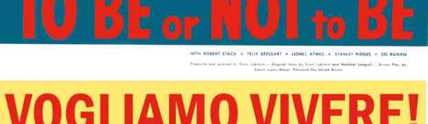 Venerdì 28 Febbraio proietteremo, in prima visione a Follonica, la commedia capolavoro di Ernst Lubitsch
